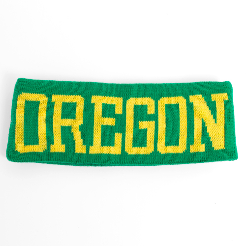 Knit Oregon Ducks Headband_Kelly Green